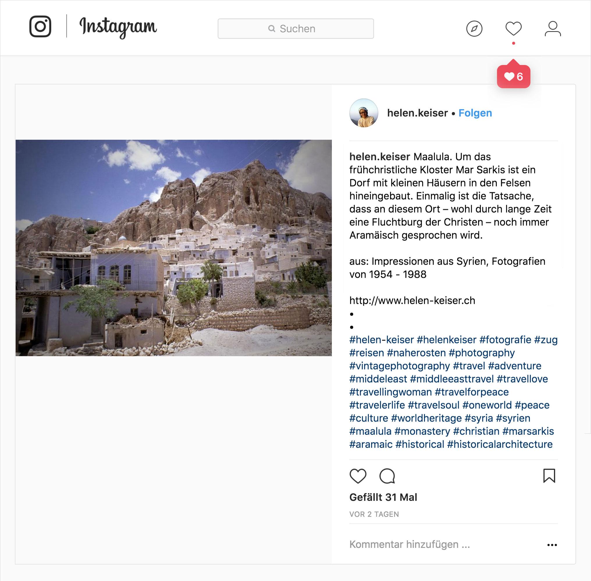 Helen Keiser Instagram