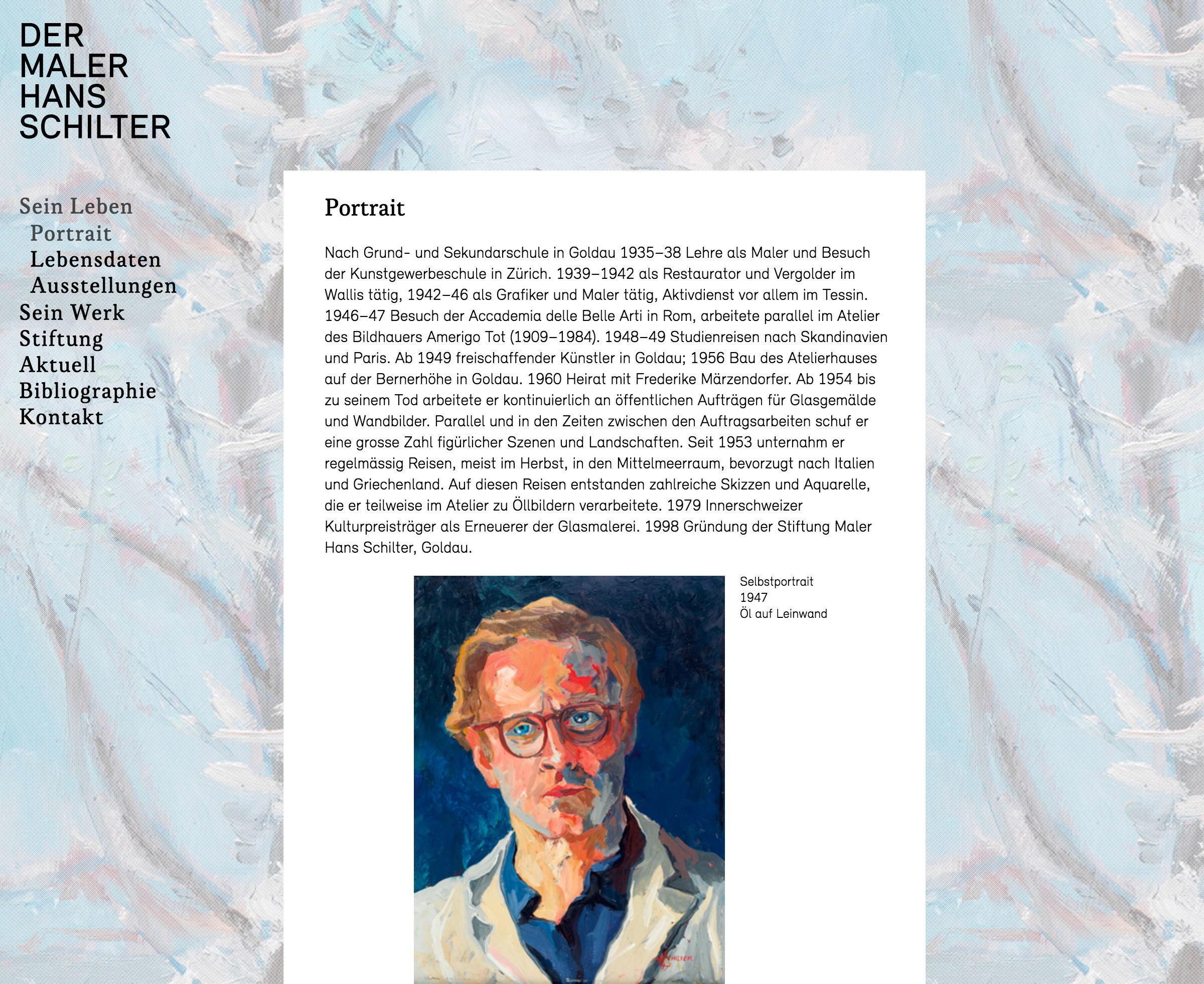 Der Maler Hans Schilter