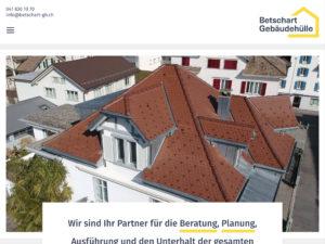 Startseite der Betschart Gebäudehülle AG