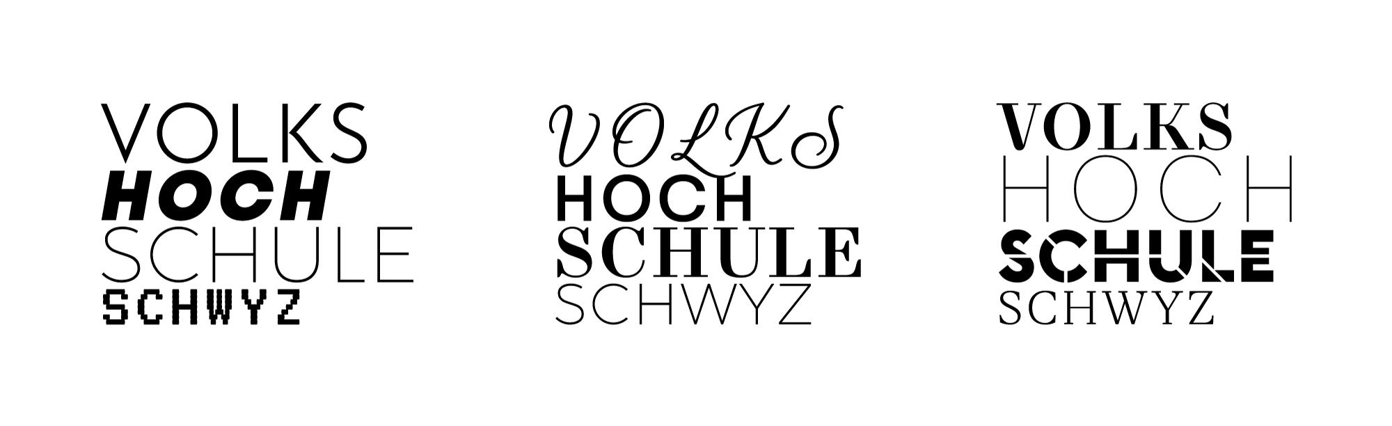 Varianten der Schriftmarke