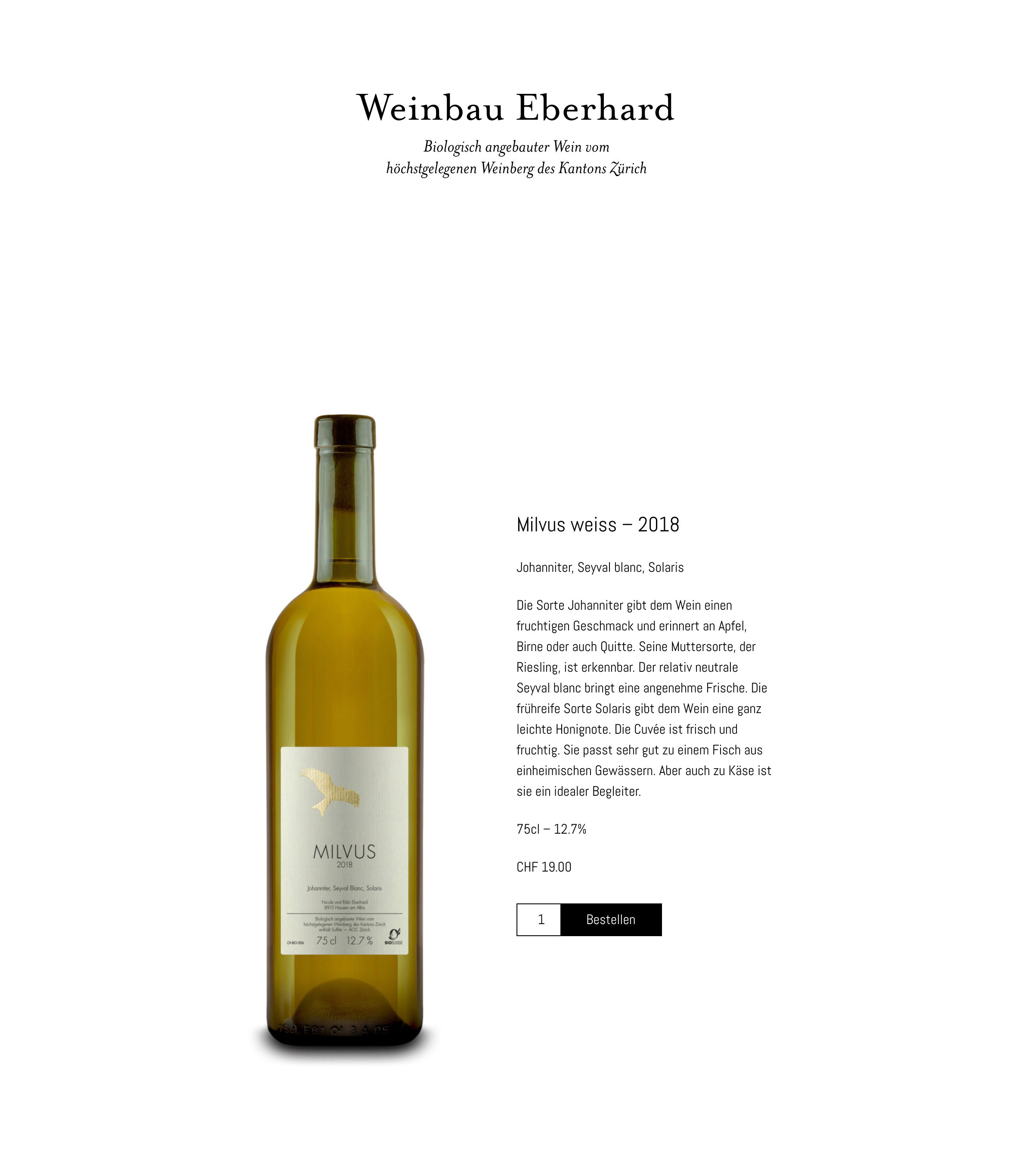 Produkteseite von Weinbau Eberhard